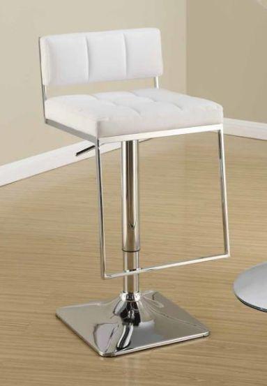White Adjustable Bar Stool 110193
