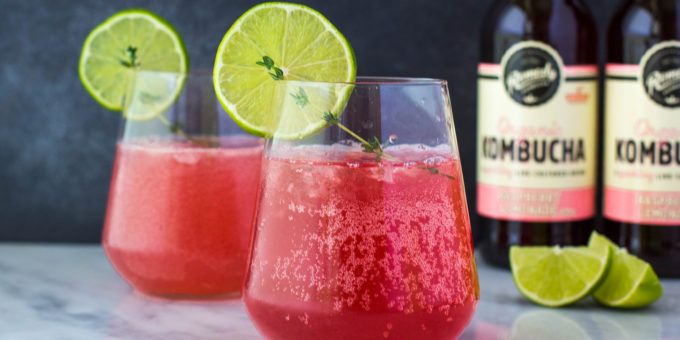 Raspberry Kombucha Cosmopolitan Cocktail