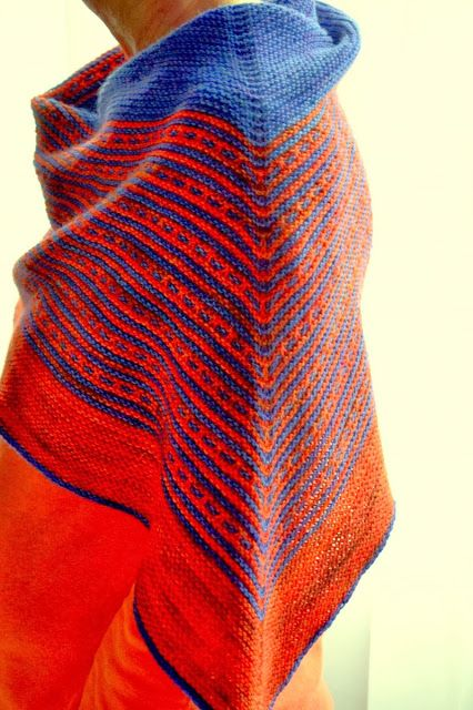 MES FAVORIS TRICOT-CROCHET: Modèle tricot gratuit : Le châle Andromaque