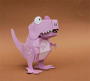 Poseable Paper T. Rex: 11 Steps (with Pictures)