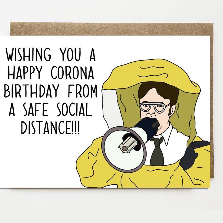 Funny Corona Birthday Card Card For Friend Greeting Card
