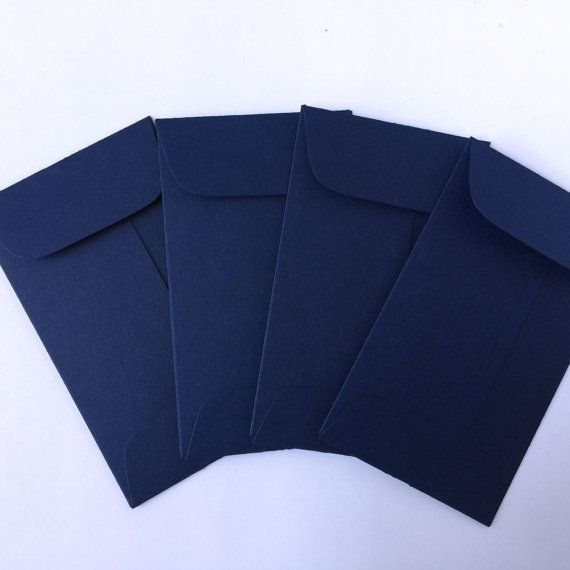 100 Wedding Navy Blue Envelopes Coin Envelope by GreenRidgeDesigns