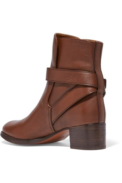 Chloé - Leather Ankle Boots - Dark brown - IT