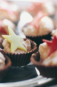 Chokladmousseformar med julstjärnor #recept #norrmejerier #jul #efterratt