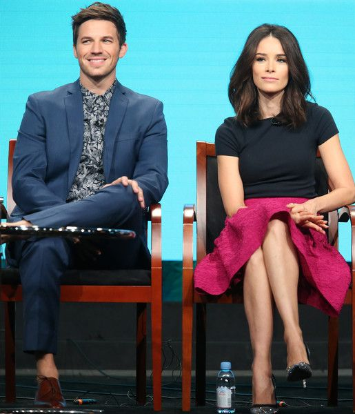 Matt Lanter Photos Photos - Actors Matt Lanter (L) and Abigail Spencer speak onstage at the 'Timeless' panel discussion during the NBCUniversal portion of the 2016 Television Critics Association Summer Tour at The Beverly Hilton Hotel on August 2, 2016 in Beverly Hills, California. - 2016 Summer TCA Tour - Day 7