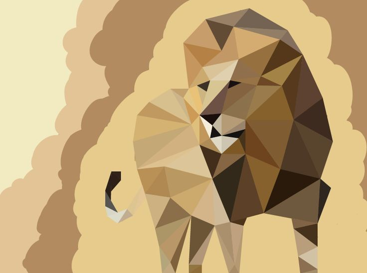 Lion. A vector image. By Anni Leppänen