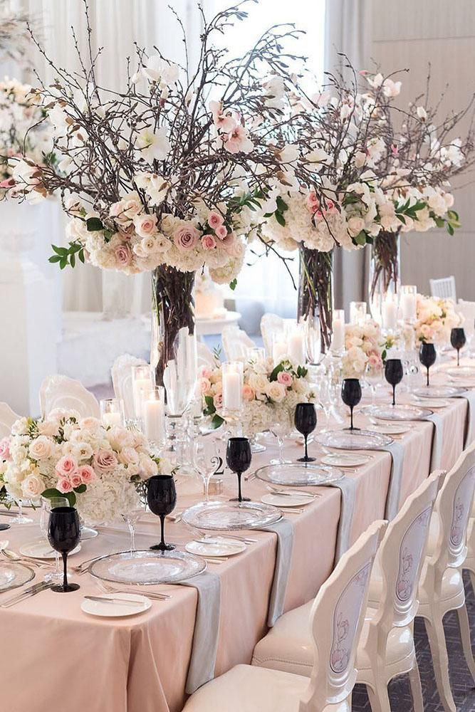 When You Try To Imagine A Spring Wedding Decor First Of All You See A Lot Of Flowers Toda Spring Wedding Decorations Wedding Centerpieces Wedding Decorations