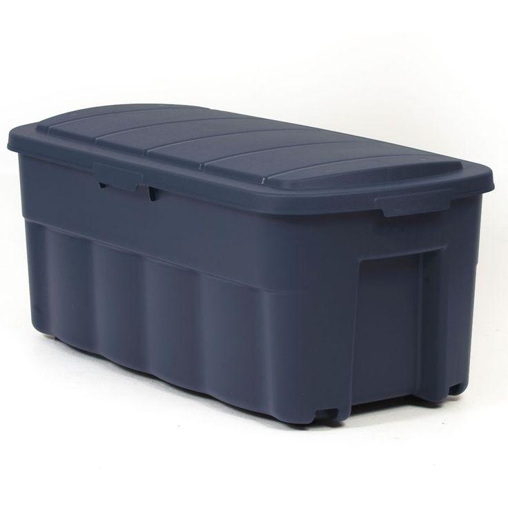 Centrex Plastics Llc Rugged Tote 50 Gallon 200 Quart Navy Tote With Standard Snap Lid Lowes Com Home Storage Organization Storage Large Item Storage