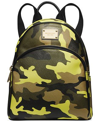 MICHAEL Michael Kors Small Camo Backpack - Handbags & Accessories - Macy's