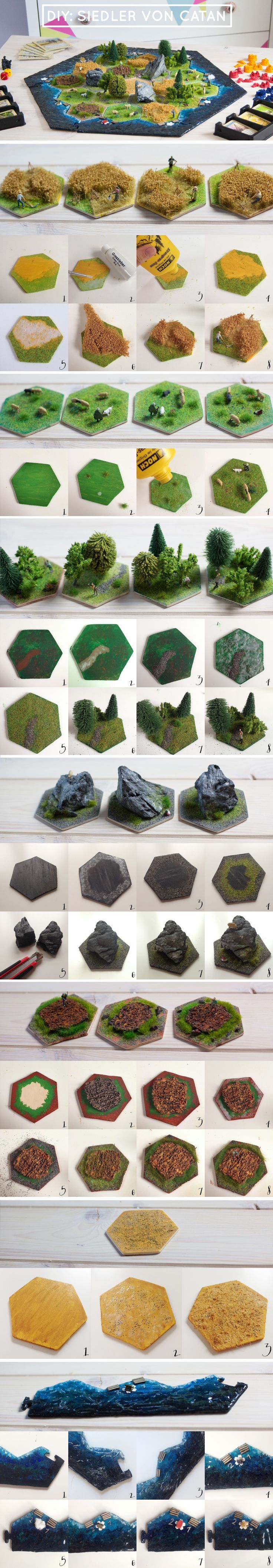 Mega DIY! The settlers of Catan in 3D! Just right for all game fans! With miniature figures.