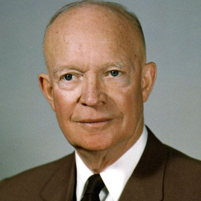Dwight D. Eisenhower was the 34th president of the United States (1953-61). He was supreme commander of the Allied forces in western Europe during World War II.