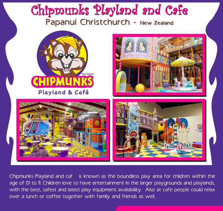 Chipmunks Playland and Cafe Papanui Christchurch - New Zealand :      #Chipmunks Playland and #café is known as the boundless #play area for #children within the age of 1 to 11. Children #love to have #entertainment in the larger #playgrounds and #playlands, with the #best, #safest and #latest play #equipment availability. _________________________ #entertainment #kidsactivities #childrenatplay #travelnewzealand #travel #kiwitravel