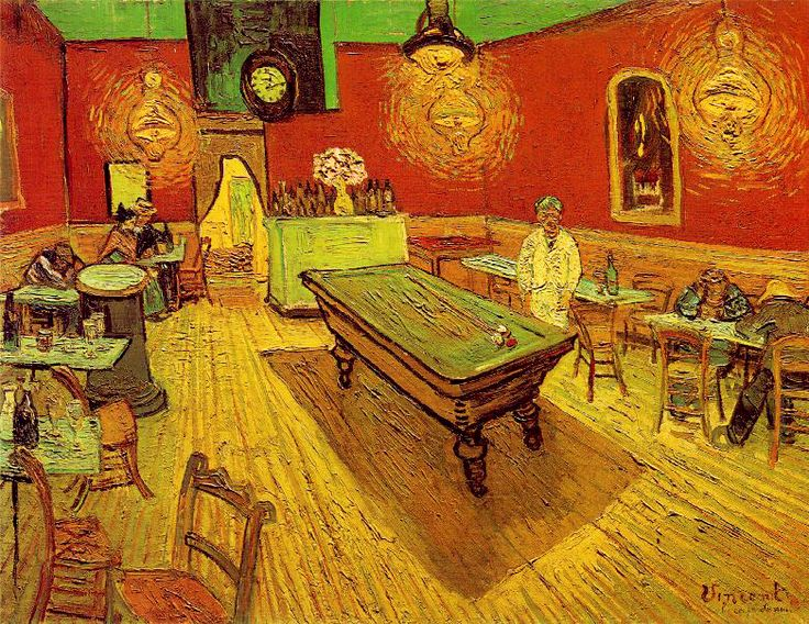 Vincent Van Gogh, Caffè di notte, 1888, olio su tela;  Art Gallery, University of Yale, New Haven