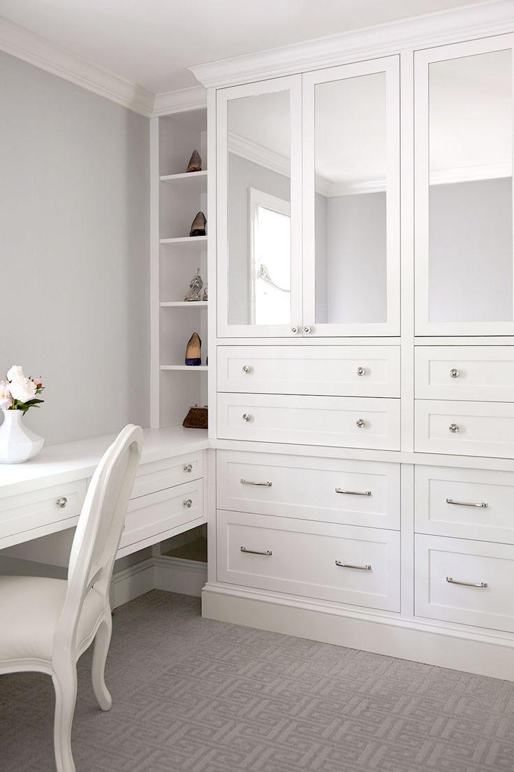 custom dressing room with built