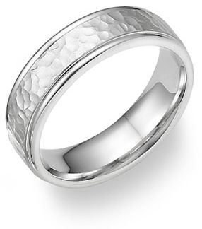 I think Dan would look amazing with a... Platinum Hammered Design Wedding Band Ring, applesofgold.com