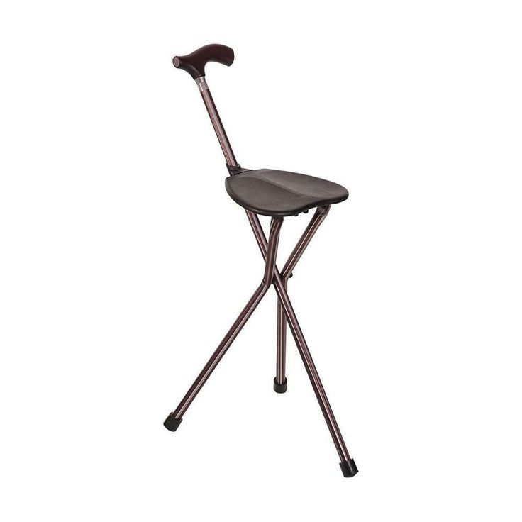 Walking stick cum foldable chair, assistive devices, others on carousell