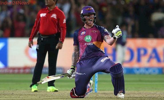 RPS vs GL: Ben Stokes smashes 103, leads Pune to five-wicket win over Gujarat