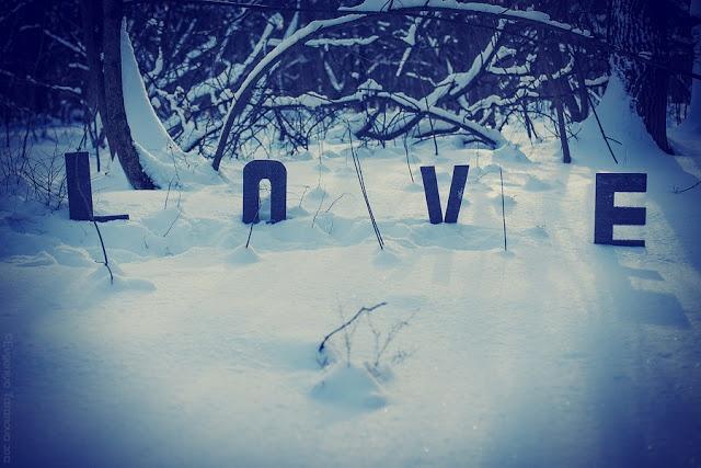 """Украшаем все вокруг! - Фотоэксперимент """"Когда уходит любовь.."""" #love, #grey, #blue, #winter, #letters"""
