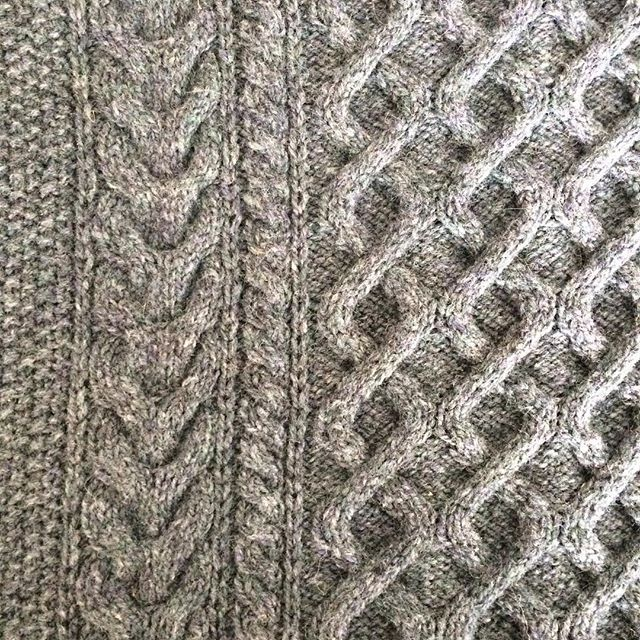 Chloe's just finished blocking a magnum opus sweater for her hubby in  #briggsandlittleheritage. Merry Christmas Riley! . . . #briggsandlittle #handknit #woolsweater #canadian #knittersofinstagram #ravelry