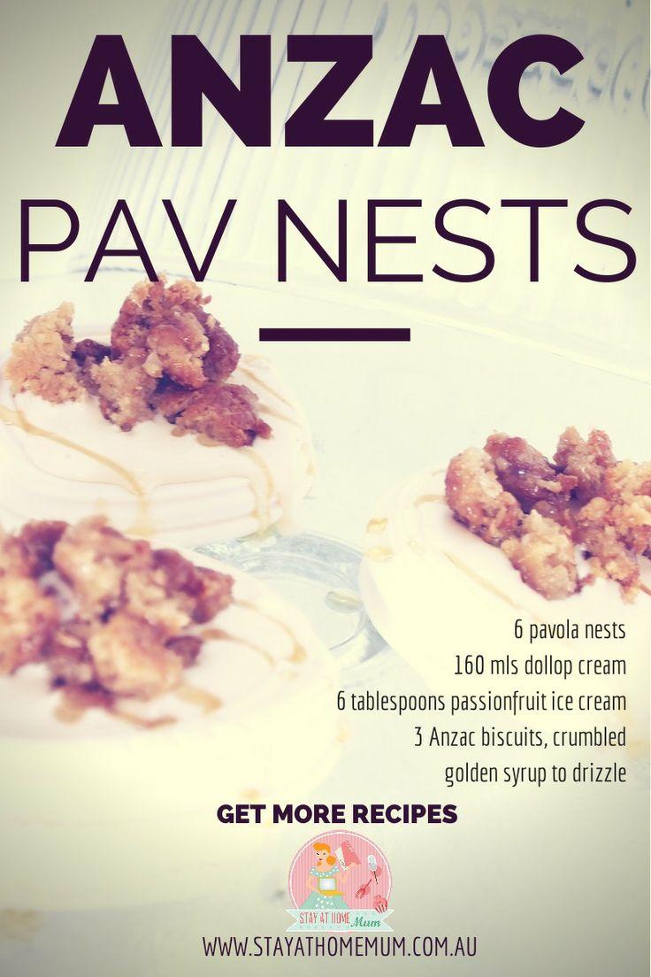 ANZAC Pavlova Nests | Stay at Home Mum #Dessert