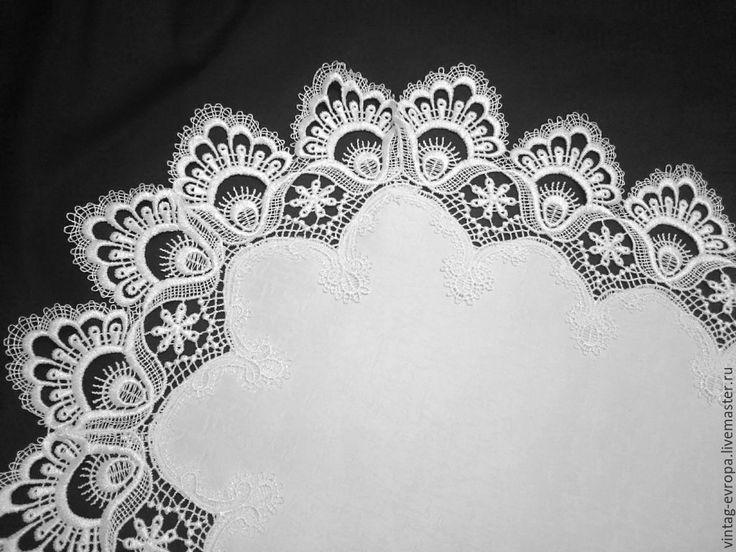 Купить Винтажная Дорожка Англия -183 - белый, салфетка с кружевом, кружевная салфетка, дорожка на стол