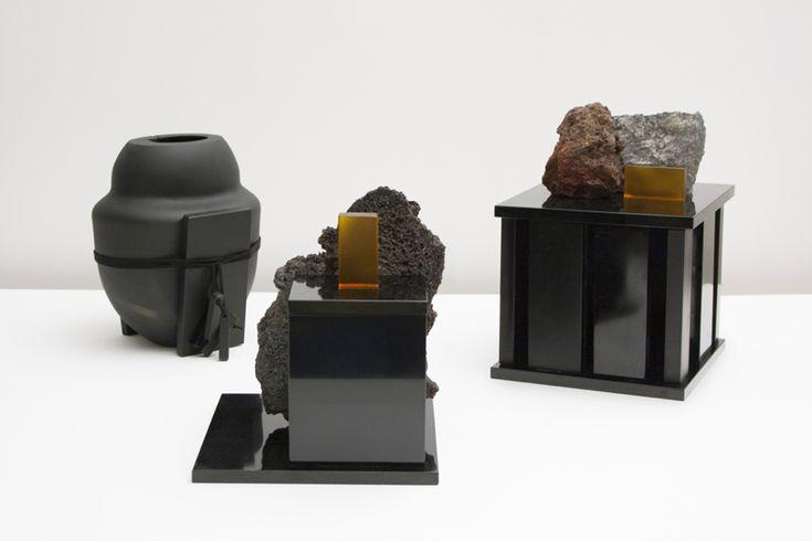 formafantasma turns mount etna lava into de natura fossilium boxes