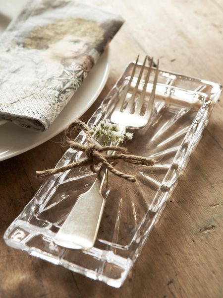 Glass Cutlery Rest