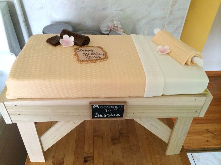 Massage table cake
