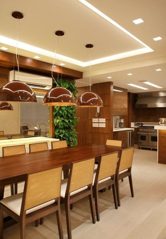 Kitchen Ceiling Design, False Ceiling Design, Dining Rooms, Dining Area,  Dining Table, Drywall, Decorative Wall Shelves, Cove Lighting, Dinner Room Part 74