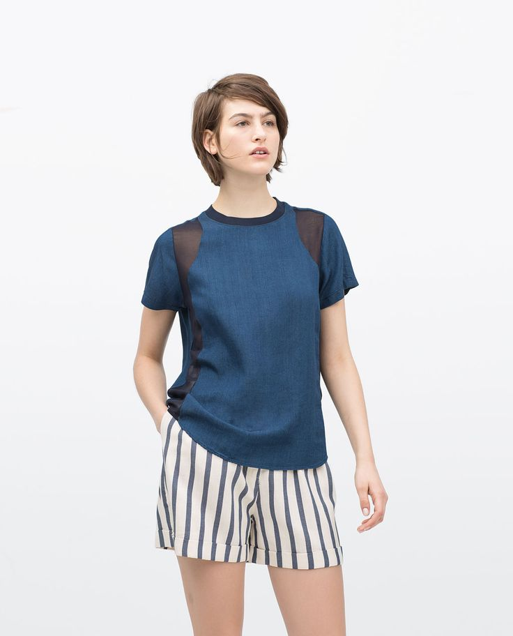 Image 1 of INDIGO SHIRT from Zara