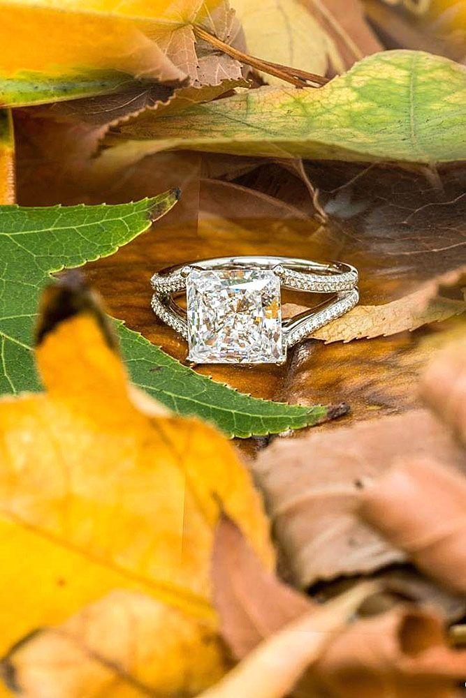 diamond princess cut engagement rings 1