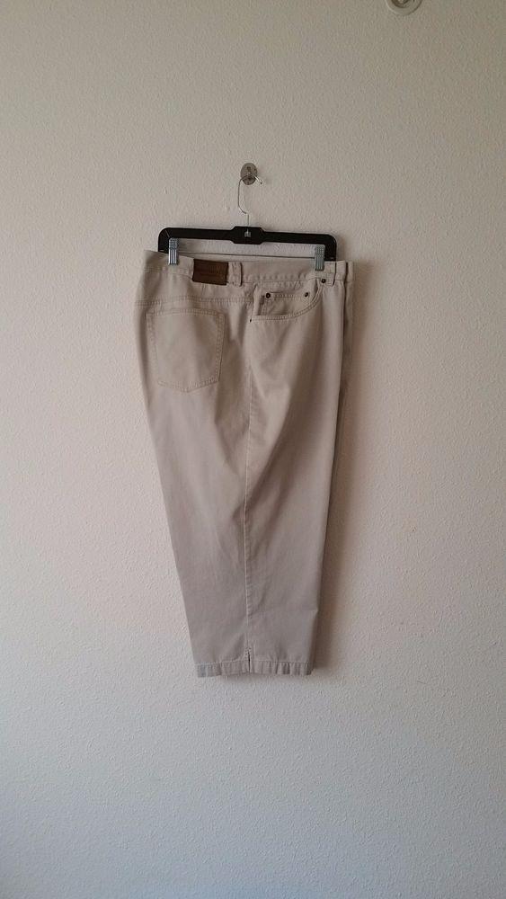 Ralph Lauren Jeans Co. Denim 100% Cotton khaki Capris Cropped Pants Size 20W | Clothing, Shoes & Accessories, Women's Clothing, Pants | eBay!