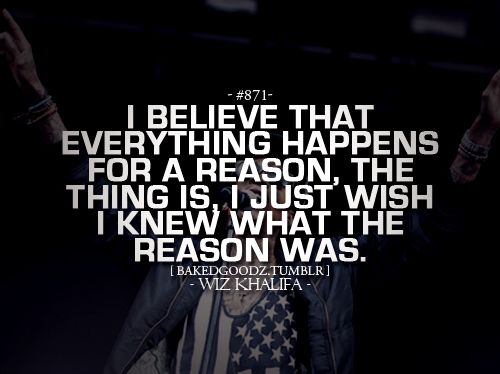 I Believe That Everything Happens For A Reason, The Thing