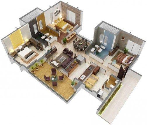Gambar Denah Rumah Minimalis 3 Kamar Tidur 22