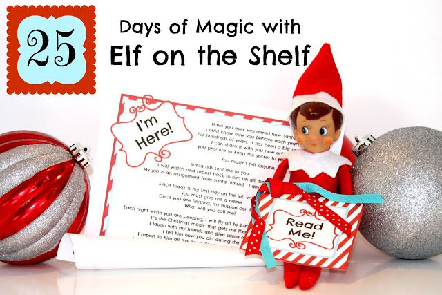 25 EASY ideas for your Elf on the Shelf! PLUS, a FREE Printable letter from your elf for you to download! www.makinglifewhimsical.com #elf #elfontheshelf #christmasmagic #christmas