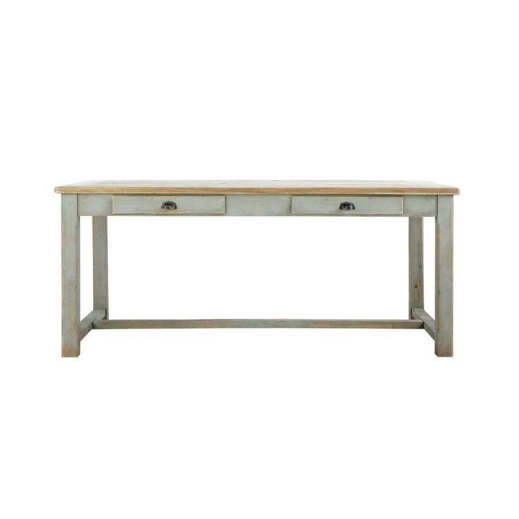 Tavolo grigio per sala da pranzo in legno L 180 cm
