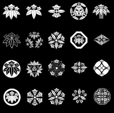 竜胆紋 on 家紋World