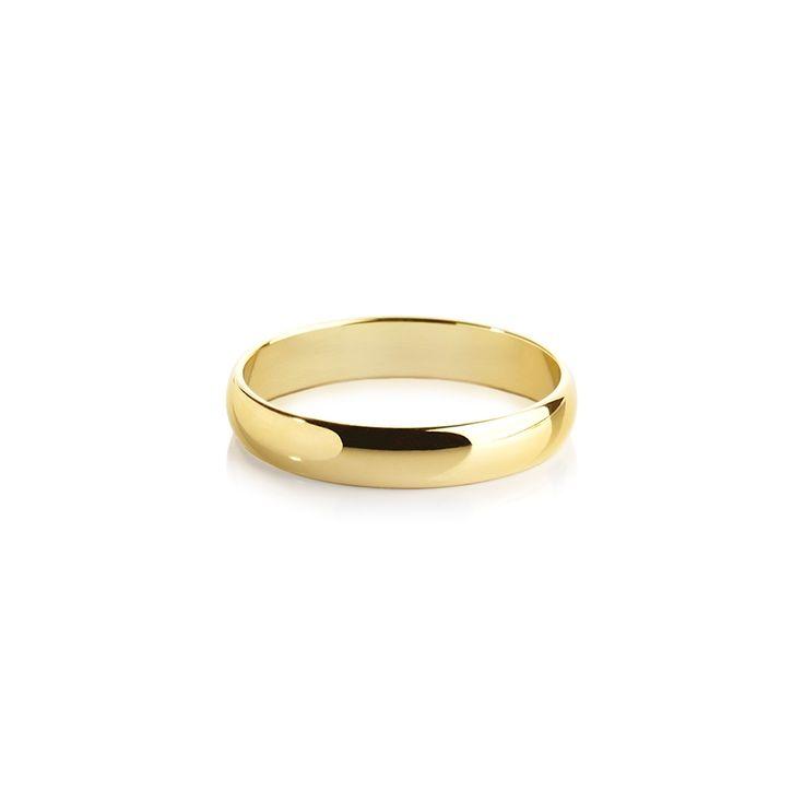 Обручальные кольца : Обручальное кольцо, гладкое классическое желтое золото 585 проба ширина 4 мм.