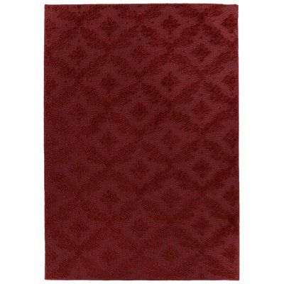 Charlton Home Spafford Red Area Rug Rug Size: Square 12'