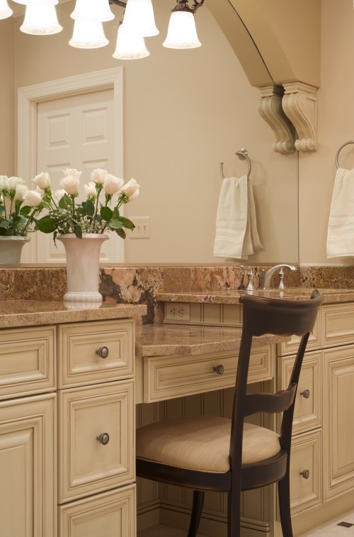 Custom Bathroom Vanities San Jose bathroom vanity with makeup counter.bathroom single sink vanity