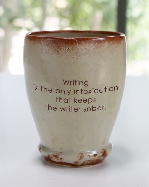 Inspirational cups for writers