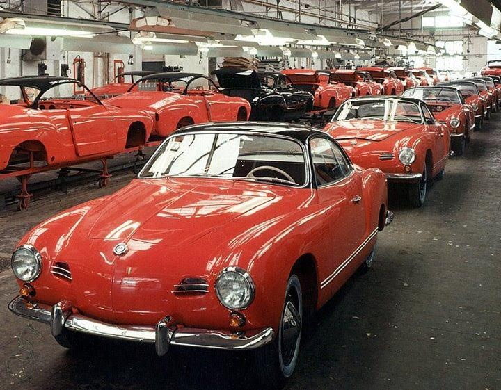 VW Karmann Ghia production line