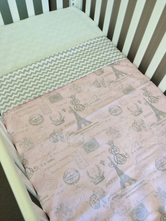 Custom order Cot doona cover grey chevron & pink by BabyRainbowz