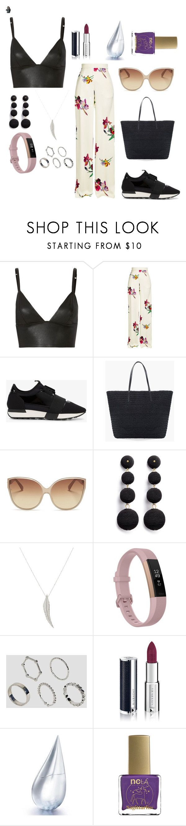 """Ootd - 6:32 A.M."" by thebeauty26 ❤ liked on Polyvore featuring T By Alexander Wang, Etro, Balenciaga, Chico's, Linda Farrow, Kenneth Jay Lane, Sidney Garber, Fitbit, ASOS and Givenchy"