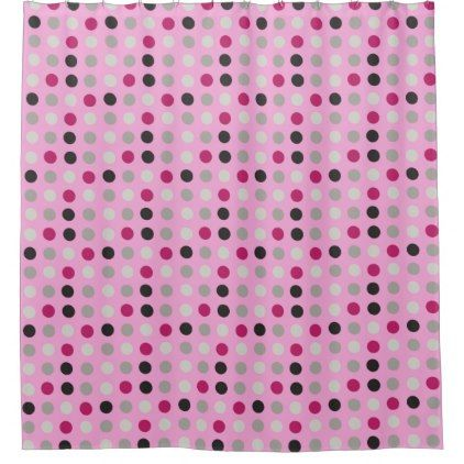 grey magenta eggs on pink shower curtain - retro gifts style cyo diy special idea