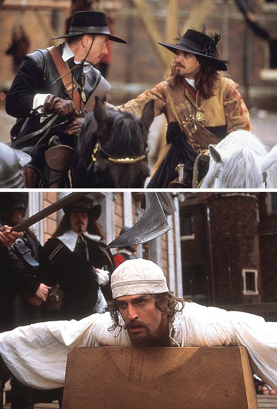 To Kill A King (2003) Starring: Tim Roth as Oliver Cromwell, Dougray Scott as Sir Thomas Fairfax, and Rupert Everett as King Charles I.