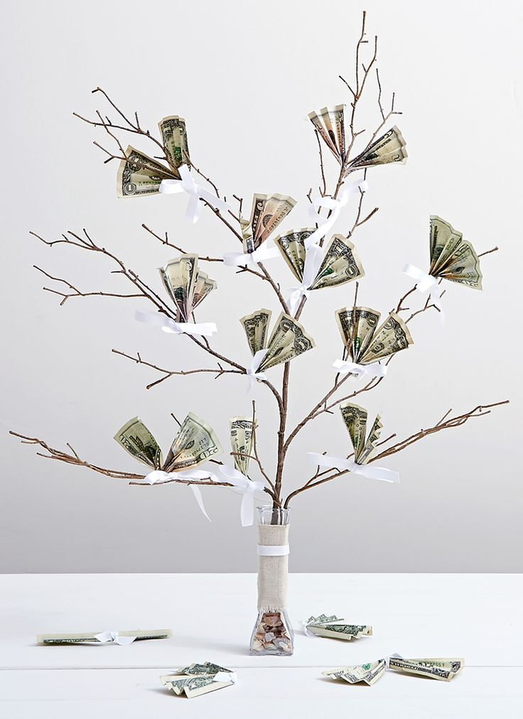Money Tree, Wedding DIY: 7 Creative Ways to Gift Cash | Shari's Berries Blog #wedding #cash #gift