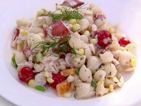 Ina Garten pasta salad with shrimp and lobster