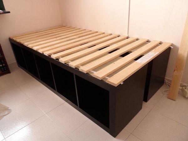 Expedit Single Bed   Ikea Hackers   Ikea Hackers in 15 small single beds ikea