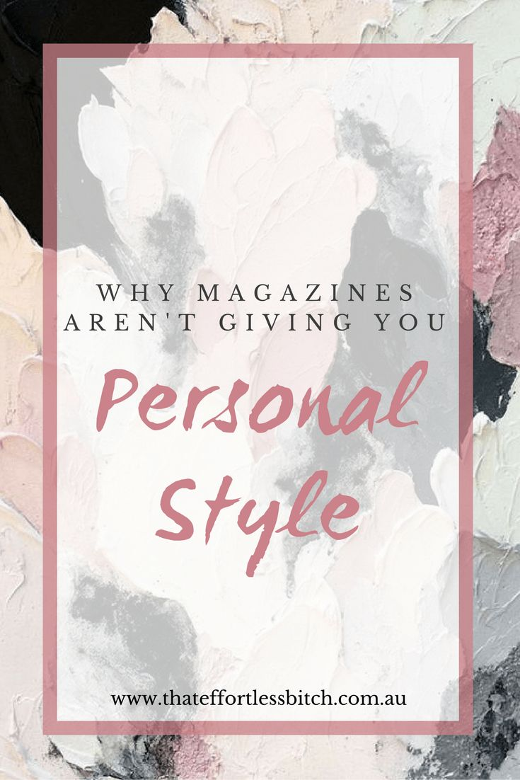 Fashion Stylist Alarna Hope talks about why she thinks magazines aren't giving you personal style. Know what your style is by paying attention to yourself before any fashion trend.